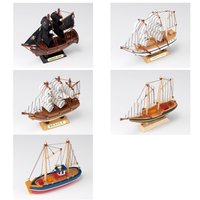 モデルシップ12 あおぞら MODEL SHIP 12 海賊船/ゴルヒ フォック/ビーグル/ブルーノーズ ミニ/ブルー ドルフィン コンパクト 組立キット 帆船 木製 約12cm