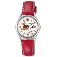 人気キャラクター、スヌーピーの腕時計です。   ■腕周りサイズ(約):最小120〜最大165mm ■...