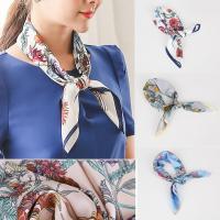 スカーフ 花柄 きれいめ  カラー:ivory gray pink blue  洗濯方法:ドライクリ...