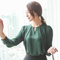 30代 40代ファッション シャツ ブラウス  レディース オフィス 無地 きれいめ 長袖 通勤 O...
