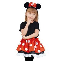 ディズニーキャラクターコスプレ ミニーマウスをイメージした衣装(コスチューム)です。 【仕様】 サイ...