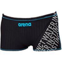 アリーナ(arena) メンズ トレーニング水着 ショートボックス ブラック×ブラック×ブルー FSA-8602 BKBU 男性用 競泳水着 トレーニング 練習用 スイム