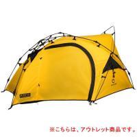 クイックキャンプ (QUICKCAMP) ダブルウォール ツーリングテント 1人用 イエロー QC-BEETLE1 軽量 アルミポール製 アウトドア ソロキャンプ用 ライダーステント