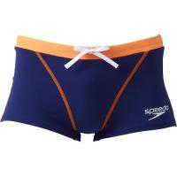 スピード(speedo) メンズ 競泳水着 トレイン ボックス バリブルー×オレンジ SD87X03 BO 練習用 男性用競泳水着 トレーニング 水着 スイムウェア