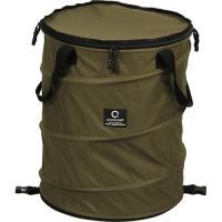 クイックキャンプ(QUICKCAMP) アウトドア キャンプ トラッシュボックス カーキ ポップアップ ゴミ箱 45L コンパクト 薪入れ QC-TB40 ランドリーバスケット