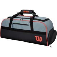 ウイルソン(Wilson) テニスバッグ クラッシュ ダッフル ラージ CLASH DUFFLE LARGE ブラック・グレー WR8002401001 ラケットバッグ ダッフルバッグ 遠征 試合