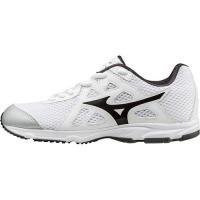 ミズノ(MIZUNO) マキシマイザー 19 Jr ホワイト×ブラック K1GC172010 ランニングシューズ スニーカー ジュニア 運動靴 男の子