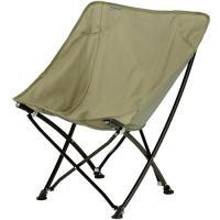 バンドック(BUNDOK) アウトドア用品 バケットチェア カーキ BD-180 KA アウトドア バーベキュー キャンプ チェア 椅子 収束型 BBQ