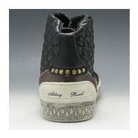 アビーロード/レザースニーカー ハイカット/AB6002 ブラック/キルティングが印象的/メンズ 靴