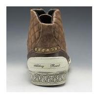 アビーロード/レザースニーカー ハイカット/AB6002 キャメル/キルティングが印象的/メンズ 靴
