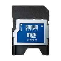 SDスロット搭載機器でminiSDカードが読める