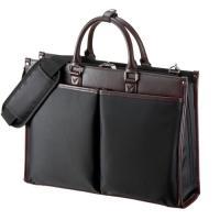 カジュアルデザインでメンズ&レディースに対応、通勤やビジネスに最適なPCバッグ。ブラック。