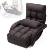座椅子 リクライニング クッション メッシュ 通気性 背もたれ 肘付き 足置き おすすめ ブラウン EEX-CH68ZBR ネコポス非対応