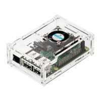 アクリル製のラズベリーパイケース。冷却ファン付で、透明度の高いRaspberry Pi用アクリルケー...