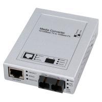 ノイズの影響を受けず、長距離ネットワークに最適な光メディアコンバーター。SCコネクタ×2−RJ-45...