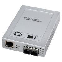 ノイズの影響を受けず、ギガビット長距離ネットワークに最適な光メディアコンバーター。SCコネクタ×2−...