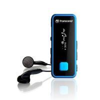 小型MP3プレーヤー オーディオプレーヤー 8GB スポーツ エクササイズ用 防滴 FMラジオ搭載 ブルー  TS8GMP350B トランセンド Transcend
