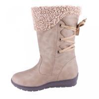 レニーゼ レディースシューズ 靴 ブーツ アンクル ショートブーツ Reneeze COCO-02 Women Flat Heel Mid-Calf Boot?, Color: KHAKI, Size: 8.5 正規輸入品