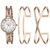 アンクライン ドレス レディース 最新 ファッション Anne Klein Women's AK/2236RGST Three-Piece Watch and Bracelet Set with Swarovski Crystal Accents