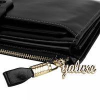 ヤラックス ハンドバッグ レディースファッション カバン YALUXE Women's Large Capacity Luxury Waxy Genuine Leather Checkbook Wallet with Zipper Pocket