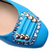 ヴォーグ ゾーン 009 レディース 靴・シューズ ヒール パンプス VogueZone009 Women's Square Closed Toe Kitten Heels Pull On Solid Pumps-Shoes 正規輸入品