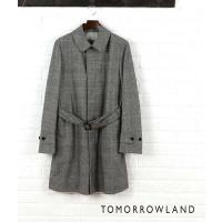 落ち着いたグレンチェック柄のベルト付きコート。 「ストーム・システム」という技術を用い、繊維を風や雨...