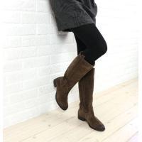 FABIO RUSCONIのロングブーツです。 柔らかいスウェード素材で、秋冬のコーデにピッタリ! ...