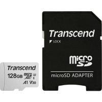 マイクロSDカード トランセンド TS128GUSD300S-A [128GB microSDXC 300S Class 10、UHS-I U3、V30、A1 対応 SDカードアダプタ付属]