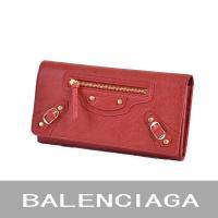 バレンシアガの長財布(小銭入れ有り) レッド BALENCIAGA 163471 D940G レザー...