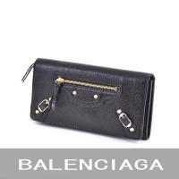 バレンシアガの長財布(小銭入れ有り) ブラック BALENCIAGA 163471 D940G レザ...