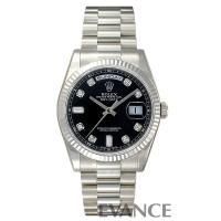 Ref.118239A ブラック 10Pダイヤモンド デイデイト ROLEX ロレックス