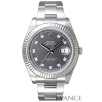 Ref.116334G グレー 10Pダイヤモンド デイトジャストII ROLEX ロレックス
