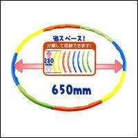 【内容】 組み立て式のフラフープです。  【大きさ】 組立時直径最大65cm  【素材】 プラスチッ...