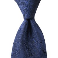 「父の日 ギフト」  ブラックベースにロイヤルブルーを織り込んだスタイリッシュなネクタイです。  品...