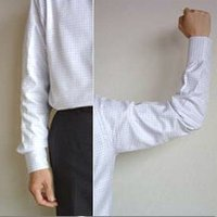 ワイシャツ裄丈ツメ加工ご注文ページです。  1cm〜6cmまで1cm刻みでツメ加工を受け付けます。 ...