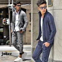 セットアップ メンズ イタリアンカラー ジャケット 上下 上下セットアップ スーツ 2点セット ツーピース セット パンツ カモ柄 迷彩柄 チェック グレンチェック