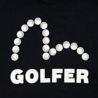 EVISUエヴィス GOLFER JERSEY TEE/イングランド製/MOCKNECK長袖/ブラック/モックネック/Tシャツ/ゴルフウェア/EVISUジーンズ