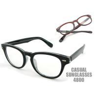 丸いレンズにオールプラスチックのフレーム&テンプルのウェリントンタイプのサングラスです。フレーム上両...