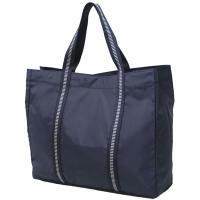 お買い物に最適な少し大きめのトートバッグです。この大きさなら、もうレジ袋はいりませんね。ボーダーテー...