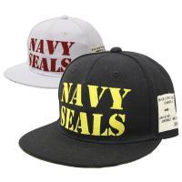 ベースボールキャップ 帽子 NAVY SEALSの刺繍がフロントを飾るBBキャップです。アクセントに...