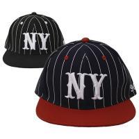 ベースボールキャップ 帽子 メンズ レディース ボディー部分がピンストライプ柄のBBキャップです。つ...
