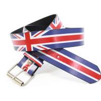 ベルト/メンズ/レディース イギリスの国旗、ユニオンジャックをモチーフにしたプリントデザインのカジュ...