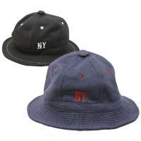 帽子 ハット メンズ レディース スウェット素材を使用したハットです。NYの刺繍がワンポイントのシン...