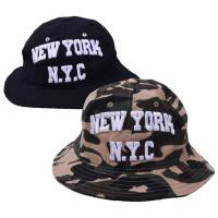 フロントのNYCの立体刺繍がインパクトあるメトロハットです。 ざっくりとカジュアルにかぶれて、使わな...