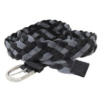 ブラックとグレーの2カラーで編み上げたメッシュベルトです。 ベルトホールで調節するのでなく編み目で手...