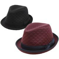 帽子 中折れハット メンズ レディース  暖かみのあるスウェットをキルティング加工した生地を使用した...