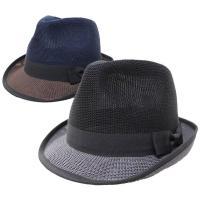 帽子 中折れハット メンズ レディース 通気性のよいサーモ素材を使用した中折れハットです。ボディー部...