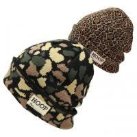 ニット帽 帽子 メンズ ワッチ  アクリル糸を使用したカモフラ柄、ヒョウ柄の総柄デザインのニットワッ...
