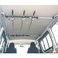 インテリア・バーに簡単に取り付けられるロッド積載用のホルダーです。5本収納可能。  サイズ:780×...