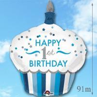 1歳 男の子 誕生日 バルーンギフト カップケーキ 1stバースデー 【Boy】 (3)119923_119587 風船 バルーン電報 孫 誕生日プレゼント|express|06
